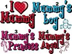 MUMMY PRINCESS LOVE ANGEL IRON ON T-SHIRT FABRIC TRANSFER OR STICKER WALL DECAL