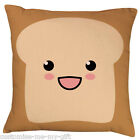 Bread | Face | kawaii food |  Cushion | Can Personalise | Cool | Retro