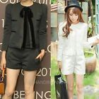 Womens White/Grey Butterfly Design Blazer Jacket Coat Tops Shorts Pants Suits