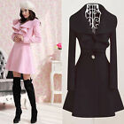 Womens Trench Parka Fashion Slim Fit Gossip Girl Outwear Coat Size C0121#