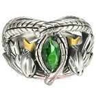Lord of the Rings 925 Sterling Silver ARAGORN Ring of Barahir US Size 9-13