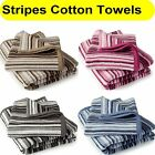 Candy Stripes Soft Cotton Luxury Bathroom Towels Hand / Bath Available