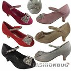 GIRLS CRYSTAL SPARKLE SHOES Size 8-2 wedding party occasion dorothy heels