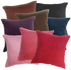 Plain Color Soft Faux Micro Suede Fabric Cushion Cover/Pillow Case Custom Size