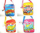 UNISEX PVC SUPER HERO COMIC WORD WHAAM BOOM POW ZAP SHOULDER BAG