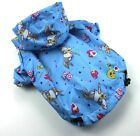USA SELLER Dog Puppy Clothes Coat Waterproof RainCoat  BLUE For Small Breeds