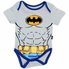 Batman Infant Boy's Creeper Uniform & Muscles Grey Bodysuit
