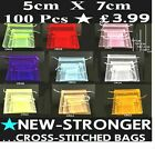 100 X  DOUBLE STRENGTH  5x7cm ORGANZA GIFT BAGS Jewellery Wedding Favour POUCHES