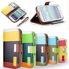 COQUE ETUI HOUSSE POCHETTE PORTEFEUILLE IPHONE 4 5 5C SAMSUNG S3 S4 leather case