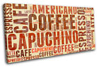 Coffee Typography Food Kitchen SINGLE CANVAS WALL ART Picture Print VA