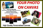"Personalised Canvas Printing Your Photo Picture Image Printed Box Framed 34""x18"""