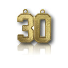 #30-49 Jersey Number Style Necklace Charm Pendant Gold Football Baseball Soccer