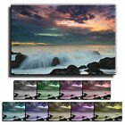 Moody Sea Sunset Landscape Canvas Art Print box framed Picture 6