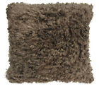 EF622 Dark Brown Very Soft Faux Sheep Fur Pillow Case/Cushion Cover *Custom Size