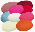 8+Colors Plain Round Flat Velvet Style Cushion Cover/Pillow Case Custom size