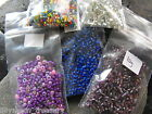 PURPLR & PINK seed bead mix RAINBOW blue clear 11/0 8/0 6/0 Lillymoon Treasury