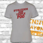 DYSLEXICS ARE TEOPLE POO FUNNY T SHIRT - GREY GILDAN SOFTSTYLE - FUN GIFT