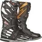 NEW 2014 FLY RACING F4 BLACK WHITE MAVERIK MENS ADULT MX ATV BOOTS ALL SIZES