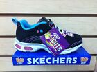 Skechers 10244 Girl Sneakesr Black/Multi Light-Up Shoes Youth Size 10.5-3 NEW