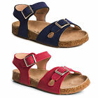 New Kids Genuine Leather Cork Sandals Shoes Girls Thongs 7 8 9 10 11 12 13