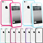CLEAR HARD BACK SILICONE TPU BUMPER CASE COVER FOR IPHONE 4 4S 5 5S +SCREEN FILM