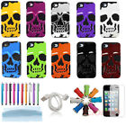 3D Devil Skull Hybrid  PC Rubber 2 in 1 Back Case Cover Skin For iPhone 4 4G 4S