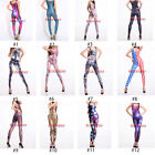 Cool Sexy Fashion Colorful Women Jumpsuit  High Waisted Stretchy Slim Bodysuit