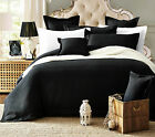 New 100% Cotton ARENA 5pcs Waffle Quilt/Doona/Duvet Cover Set Black colour Q K