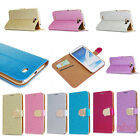 Bling Flip Wallet Stand Leather Case Cover For Samsung Galaxy Note 2 II N7000