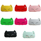 3D Cute Cat Face Soft Silicone Back Case Cover Skin For iPhone 5 5G 5S