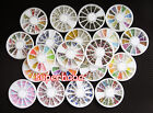 Nail Art Rhinestones Glitters Acrylic Tips Decoration Manicure Wheel More Choice
