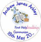 PERSONALISED HOLY COMMUNION ENVELOPE SEALS STICKERS GIFTS FAVOURS INVITES HCS 4