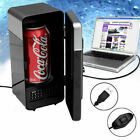 USB Powered Mini Fridge Drink Cans Cooling Fridge Cooler and Warmer Novelty Gift