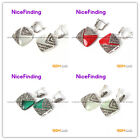 nicefinding pretty18mm square beads tibetan silver stud earrings fashion Jewelry