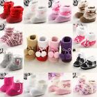 warm baby shoes boots size 0-6-18 months girls infant toddler new soft sole SU