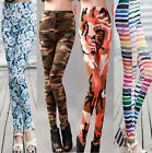 Sexy Women Girl Punk Funky Leggings Stretchy Skinny Slim Tights New 12 Color