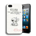 New Retro Cute OHANA Hard Plastic Back Case Cover Skin For iPhone 4 4G 4S