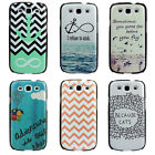 Retro Refuse to Sink Infinity Symbol Anchor Cat Case for Samsung I9300 Galaxy S3