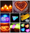 LED 7 Colours Changing Flash Flicker Flameless Battery Electronic Candle Light N