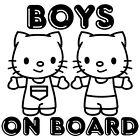 BOYS ON BOARD KIDS BABY BOY GIRL HELLO KITTY CAR WINDOW VINYL DECAL STICK (BB-4)