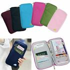 Polyester/ Nylon Travel Organiser Passport Holder Wallet Full Zip Document Bag