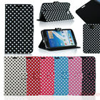 Polka Dots PU Leather Flip Stand Case Cover Skin For Samsung Galaxy Note 2 N7100