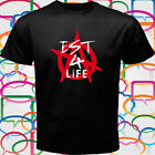 New Machine Gun Kelly Est 4 Life MGK Logo Men's Black Anime T-Shirt Size S-3XL