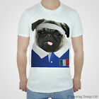 France Rugby Tshirt Pug T-shirt French World Cup Try Sport White Cute 2017 Top T