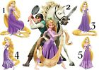 RAPUNZEL TANGLED DISNEY PRINCESS STICKER WALL DECO or IRON ON TRANSFER T-SHIRT