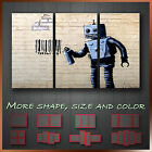 ' Banksy Robot New York ' Modern Graffiti Wall Art Canvas ~ 3 Panels