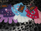 GIRLS 2 IN 1 DOUBLE GLOVES CHOICE OF 3 DESIGNS BNWT LOOK