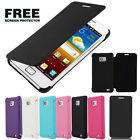 FLIP PU SYNTHETIC LEATHER CASE COVER FOR SAMSUNG GALAXY S2 II I9100 FREE FILM