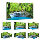 47 Shapes Canvas Picture Print Wall Art Landscape River Waterfall Forest 2664 E