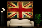 Canvas Wall Art  Prints Vintage England Flag Colorful Britis